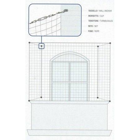 Oersterk duivennet - zwart - Doe-Het-Zelf pakket - 5 x 5 m = 25 m2 - compleet met al het bevestigingsmateriaal