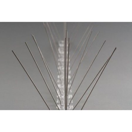 Anti-pigeon bird spikes on Polycarbonate strip 50 cm,  with 30 SS spikes, MIC103 - 0,5 m/pc.