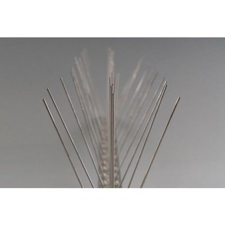 Duivenpinnen MIC780 op 1 mt RVS-strip 100 cm, met 80 RVS pinnen 10 cm hoog - 1 mt/st.