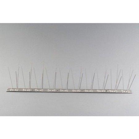 Duivenpinnen MIC780 op RVS-strip 100 cm, met 80 RVS pinnen,- 1 mt/st.