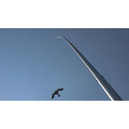 Aluminium paal 8,5 mt. incl. Black Hawk vlieger