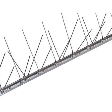 Duivenpinnen MIC260 op niet flexibele RVS-strip 100 cm met 60 pinnen - 1 mt/st