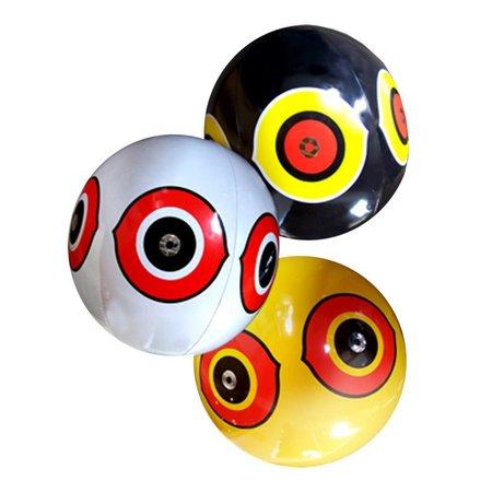 Scare Eye ballonnen, set van 3 stuks: wit, zwart en geel