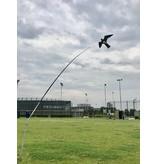 Bird Scaring Kite op 4 meter hoge mast met draaiende voet
