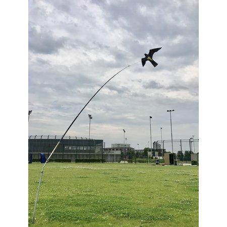 Bird Scaring Kite on 4 meter high mast with rotating base