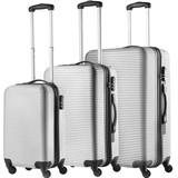 TravelZ Abs Kofferset Zilver Set 3 Koffers Inhoud 90, 63, 35 Liter