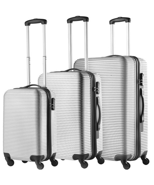 TravelZ Horizon Abs Kofferset Zilver