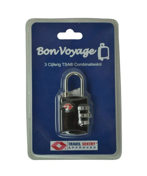 BonVoyage Tsa Cijferslot Zwart