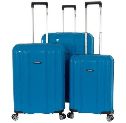 ENRICO BENETTI DURHAM TSA 3-DELIGE KOFFERSET SKY BLUE