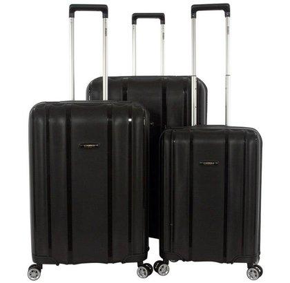 Enrico Benetti Durham Tsa 3-Delige Kofferset Zwart