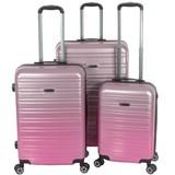 Enrico Benetti Reiskoffers Miami Roze Kofferset 3-Delig 90, 60 en 35L