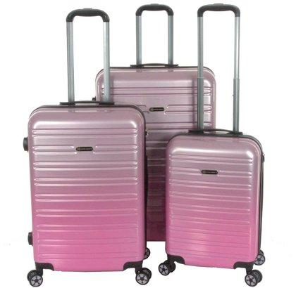 Enrico Benetti Miami Kofferset 3-Delig 90L, 60L en 35L Roze