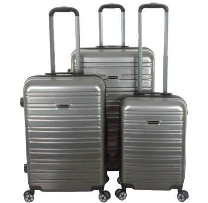 Enrico Benetti Miami Kofferset 3-Delig 90L, 60L en 35L Zilver