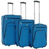 Decent Basic Line Kofferset Cobaltblauw Inhoud 78, 60 en 37 Liter OP=OP