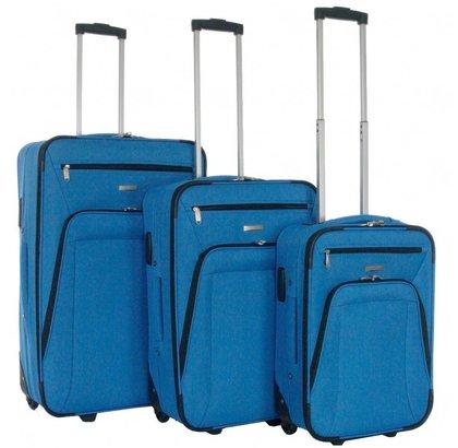 Decent Basic Line Kofferset Cobaltblauw Inhoud 78, 60 en 37 Liter
