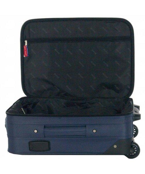 Decent Basic Line Handbagage Koffer Donkerblauw 37L 53x36x20 cm