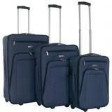 Decent Basic Line Kofferset Donkerblauw Inhoud 78, 60 en 37 Liter OP=OP