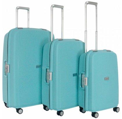 Decent Sportivo One Kofferset Lichtblauw Inhoud 96, 65 en 35 Liter
