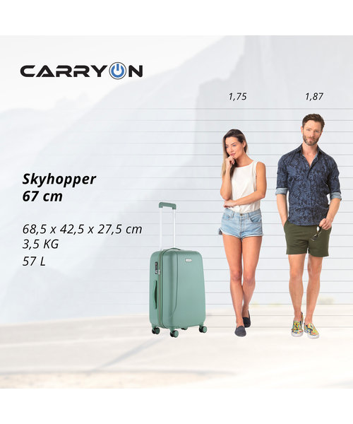 CarryOn Skyhopper Koffer Medium 57 Liter Olive