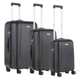 CarryOn Skyhopper Kofferset Zwart Inhoud 85, 57 en 32 Liter