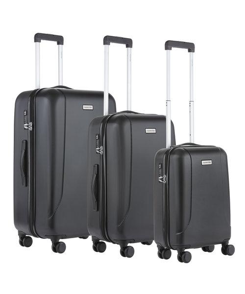 CarryOn Skyhopper Kofferset Zwart Set 3 Koffers
