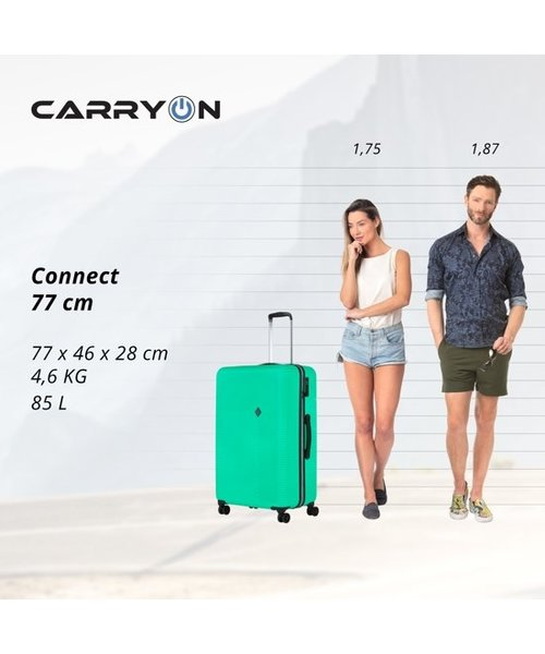 CarryOn Connect Kofferset Groen Set 2 Koffers 90 en 28 Liter
