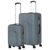 CarryOn Connect Kofferset Grijs Inhoud 90 en 28 Liter