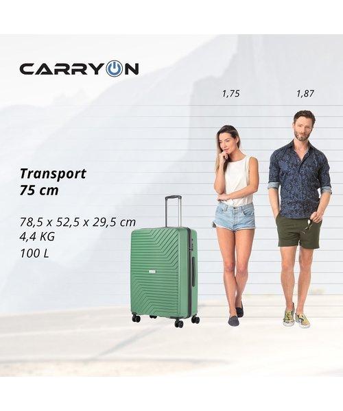 CarryOn Transport Kofferset Groen Inhoud 95, 70 en 32 Liter