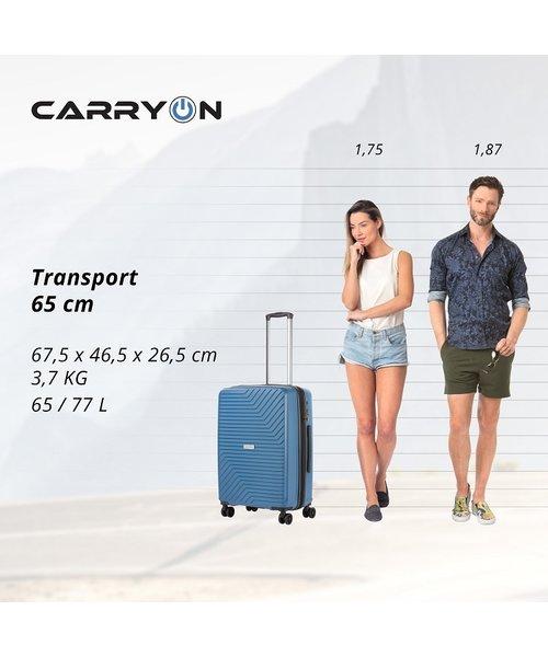 CarryOn Transport Kofferset Blauw Inhoud 95, 70 en 32 Liter