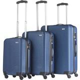 TravelZ Abs Kofferset Blauw Set 3 Koffers Inhoud 90, 63, 35 Liter
