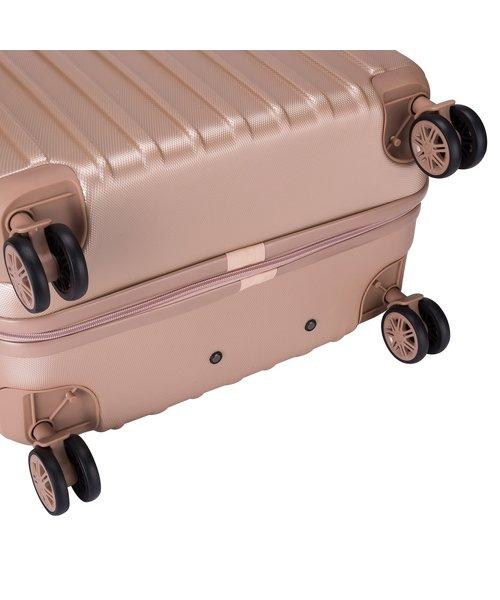 Decent Tranporto-One Kofferset Zalm Roze Inhoud 95, 60 en 30 Liter