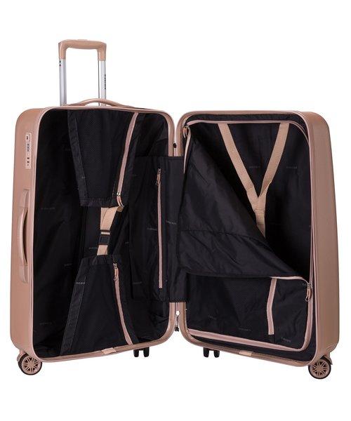 Decent Tranporto-One Koffer 76 Zalm Roze Groot 90L 75x49x31 cm