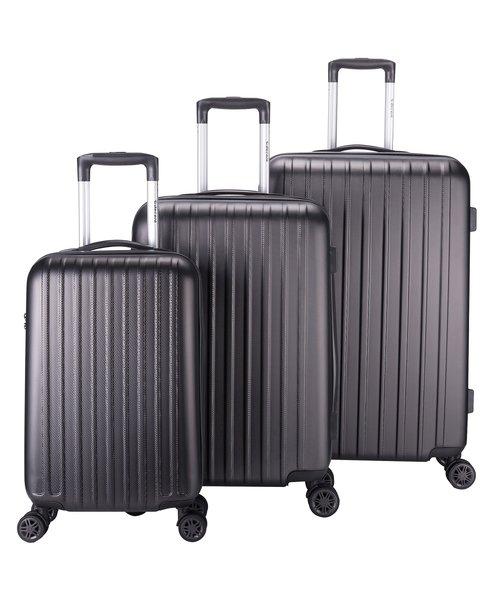 Decent Tranporto-One Kofferset Antraciet Inhoud 95, 60 en 30 Liter