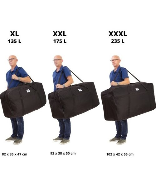 XXL Reistas 80cm Zwart