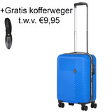 CarryOn Connect Handbagagekoffer met USB Blauw 28L 53x34x20cm