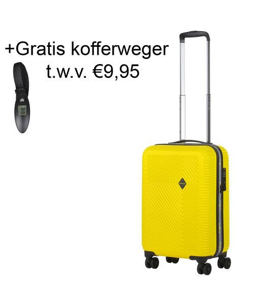 CarryOn Connect Handbagagekoffer met USB Geel 28L 53x34x20cm