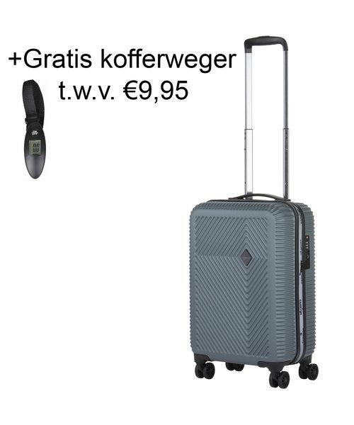 CarryOn Connect Handbagagekoffer met USB Grijs 28L 53x34x20cm