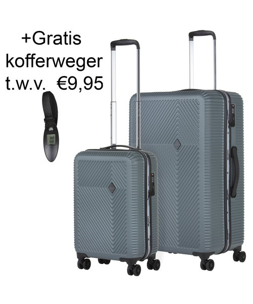 CarryOn Connect Kofferset Grijs Set 2 Koffers 90 en 28 Liter - Copy