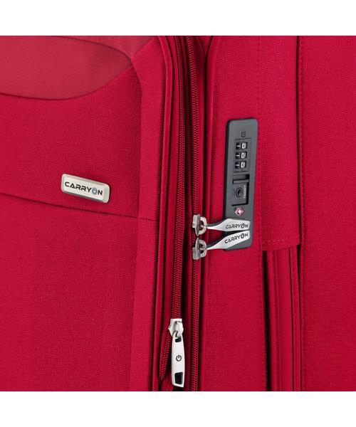 CarryOn Air Koffer 67 Cherry Rood Medium Tsa Inhoud 60L met Okoban