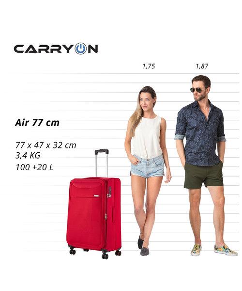 CarryOn Air Koffer 77 Cherry Rood Groot Tsa Inhoud 100L met Okoban