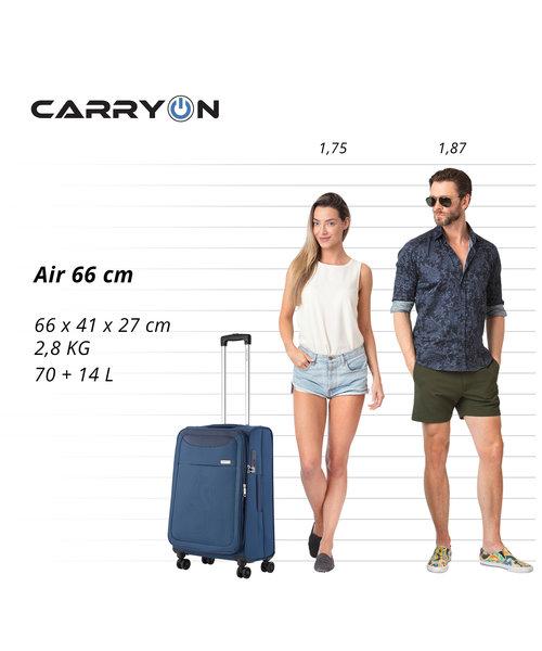 CarryOn Air Kofferset Staal Blauw Inhoud 100, 60 en 31 Liter
