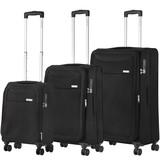 CarryOn Air Kofferset Zwart Tsa Inhoud 100, 60 en 31 Liter