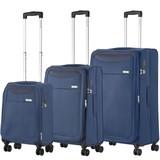 CarryOn Air Kofferset Staal Blauw Tsa Inhoud 100, 60 en 31 Liter