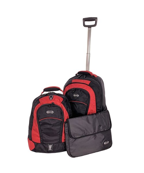 Ice Dog 3 in 1 Trolley Rugzak Medium 50L Rood 57x39x25cm