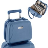 CarryOn Skyhopper Beautycase met Okoban Cool Blue 34X28X18cm