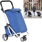 Shop Cruiser Luxe Boodschappen Trolley Met 3 Wielen en Koeltas Blauw
