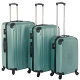 Kofferset Mint Groen Set 3 Koffers Inhoud 90, 70, 36 Liter