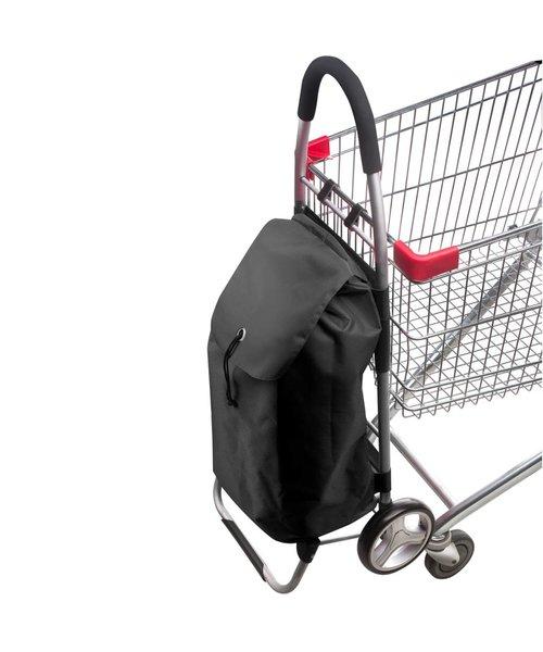 Shop Cruiser Stevige Opvouwbaar Boodschappentrolley Zwart