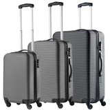 TravelZ Abs Kofferset Zwart Set 3 Koffers Inhoud 90, 63, 35 Liter