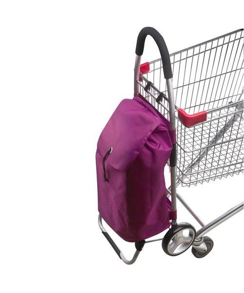 Shop Cruiser Stevige Opvouwbaar Boodschappentrolley Paars